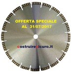 prezzo DISCO DIAMANTATO PER CEMENTO D. 650 mm MATTONE CEMENTO CLINKER Altezza segm. 10 mm