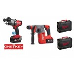 prezzo martello combinato M18 CHX-0 milwaukee + Trapano Avvitatore M18FPD ONE-KEY 50-2C con batterie 5 Ah