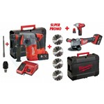 prezzo kit fuel bruschless milwaukee m18chx + m18 fhsag 125xpdb 18v 5,00 ah + c 12 iw