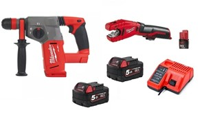 milwaukee M18 CHX-502X FUEL tassellatore 18v 5,00 Ah + C 12 PC-0