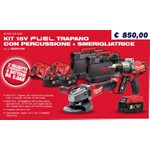 prezzo milwaukee M18 FPD-502c + M18 CAG-0 fuel